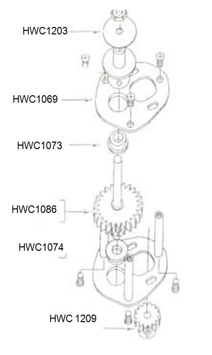 На картинке показан пример редуктора в сборе.  На рисунке представлена схема сборки редуктора для двигателя 400...
